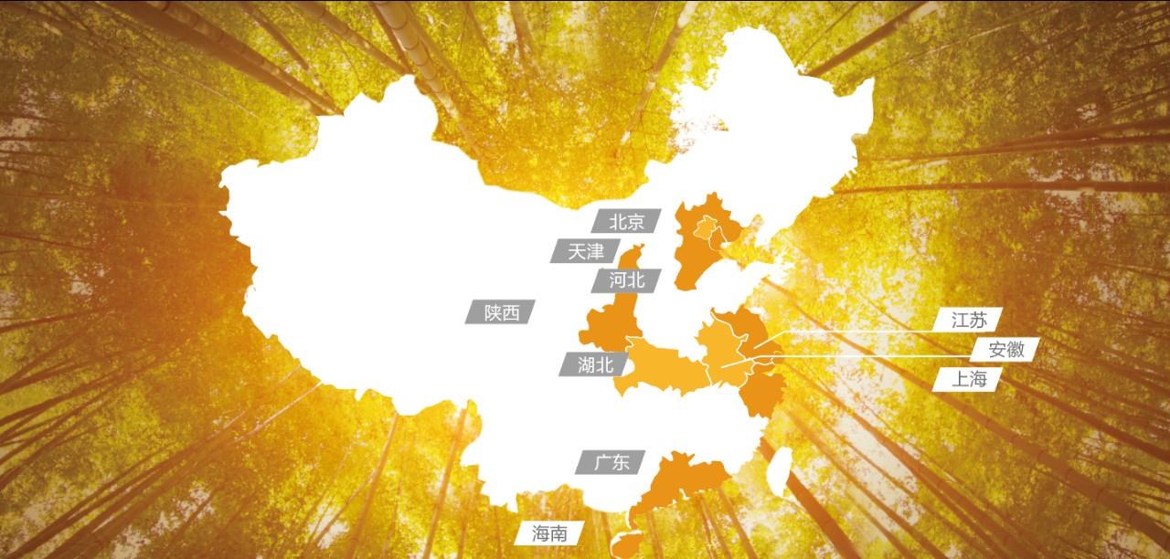 鸿坤物业全国版图